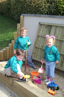 3 Children in Sandpit