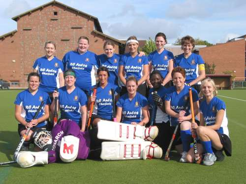 Wotton Ladies Hockey team in their new strip
