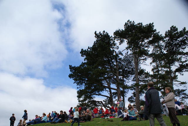 Wotton Silver Band on Wotton Hill, May 2013 (Moira Buist)