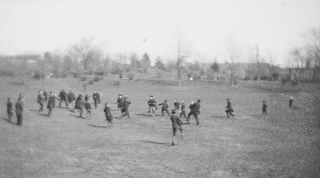 Football Blue Coat school circa 1890. This field is ... (Eric Whitlock)
